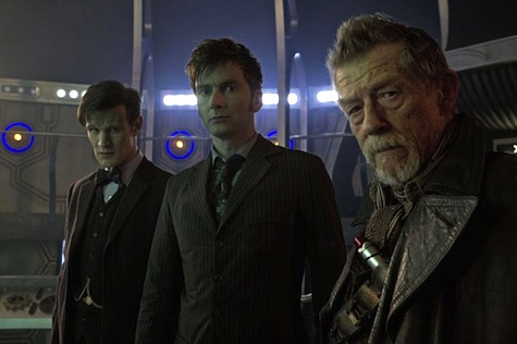 Tenth Doctor, David Tennant, Eleventh Doctor, Matt Smith, John Hurt, Doctor Who 50th anniversary