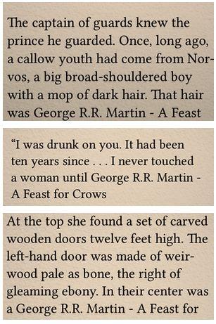 A Feast for Crows ebook error George R.R. Martin