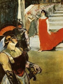 Messalina descends a staircase