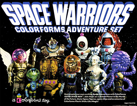 Outer Space Men Space Warriors Colorforms