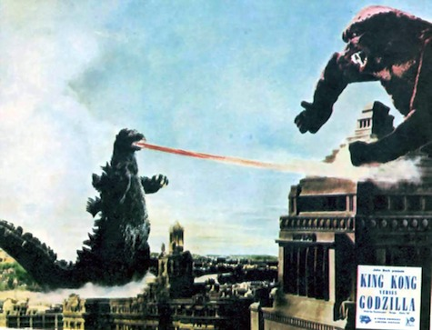 Godzilla fights King Kong