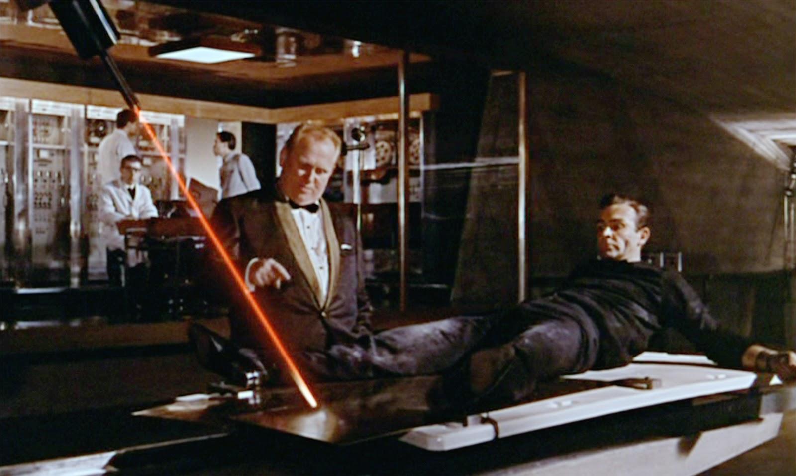Goldfinger James Bond laser