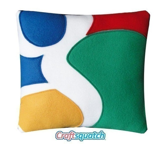 Google Pillow by Craftsquatch