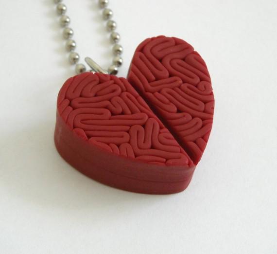 Zombie heart pendant