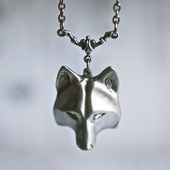 Wolf Mask Necklace