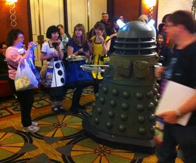 Ironside Dalek and Dalek Girls - Photo by John Burgess