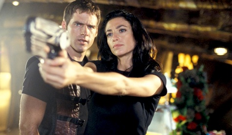 Farscape, John Crichton Aeryn Sun, Claudia Black, Ben Browder