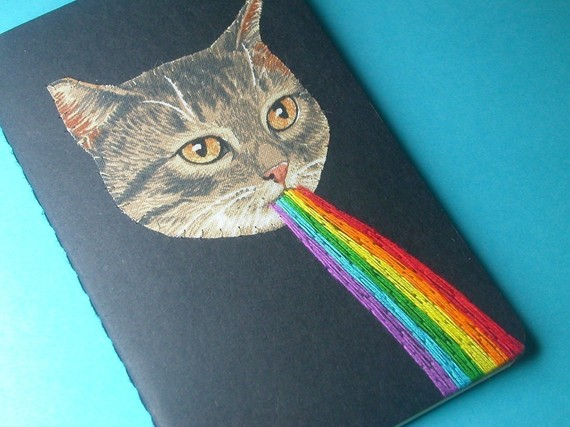 Kitten Awesome Pocket Journal by nowvember