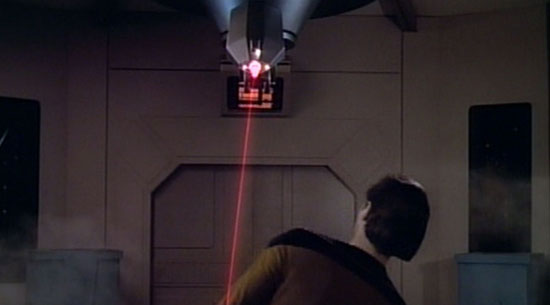 Data is attacked by a laser drill
