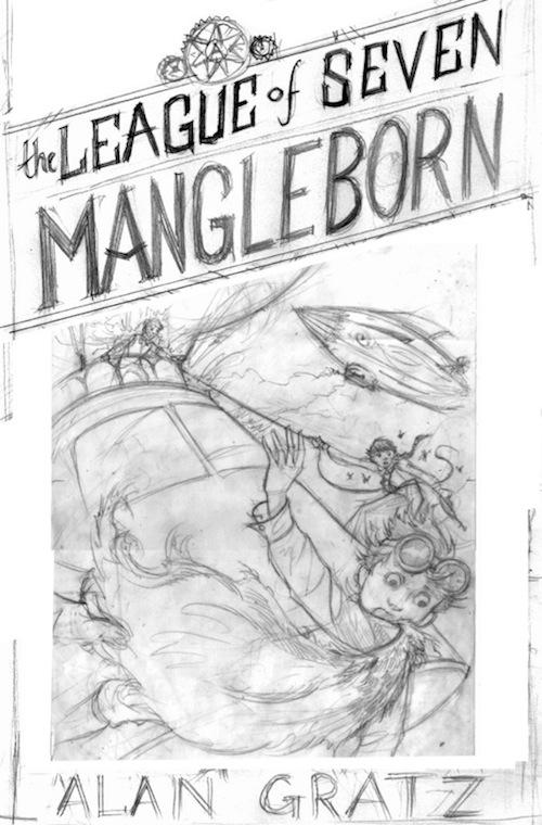 The League of Seven Alan Gratz Brett Helquist cover sketch