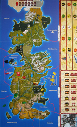 A Game of Thrones — The Board Game map