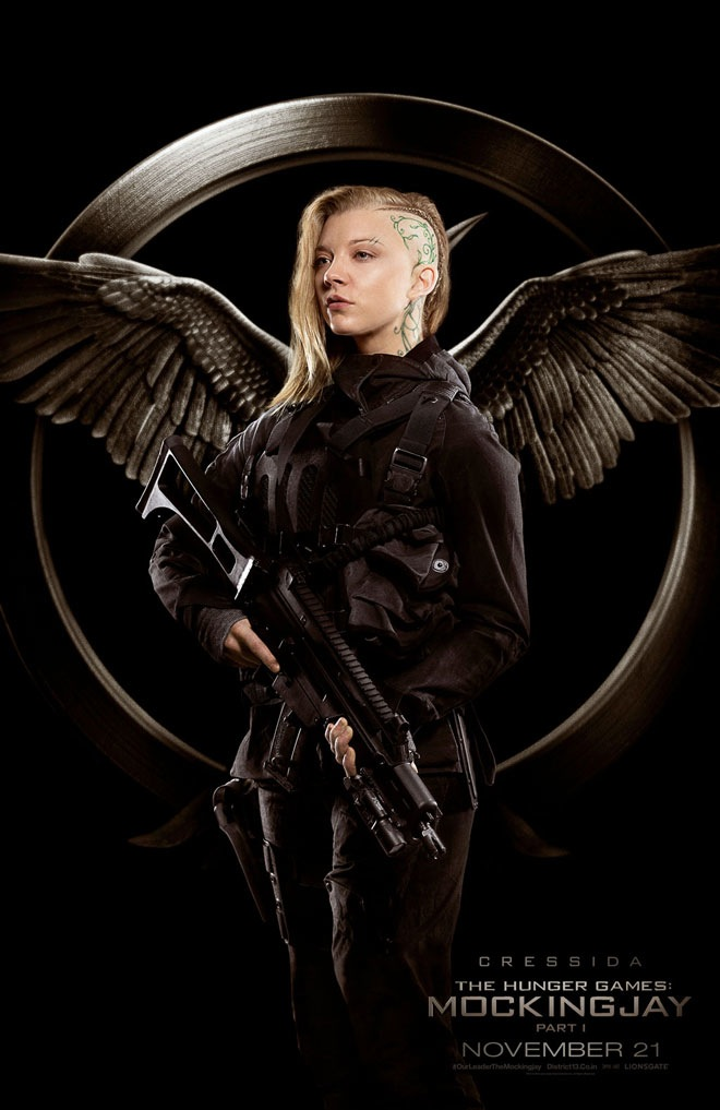 where is katniss in the latest mockingjay rebel posters