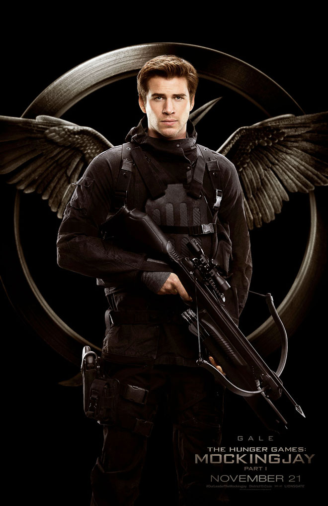 Mockingjay District 13 rebel camera crew propo posters Gale Hawthorne Liam Hemsworth The Hunger Games