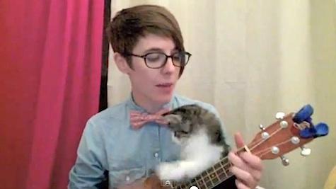 Nerd Love Song ukelele kitten DeAnne Smith