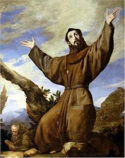 Saint Francis of Assisi in Ecstasy, Jusepe de Ribera, 1642