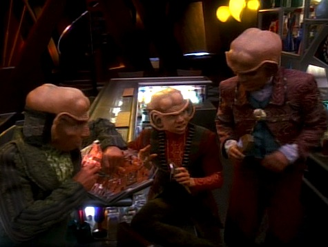Star Trek Deep Space 9, Heart of Stone, Rom, Nog, Quark
