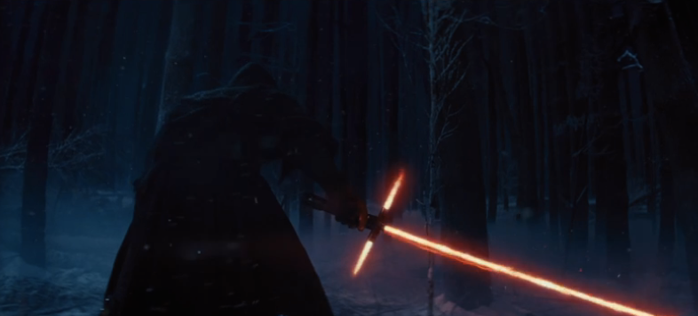 Who is this? Adam Driver's character? Triple saber?