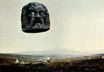 Zardoz stone head