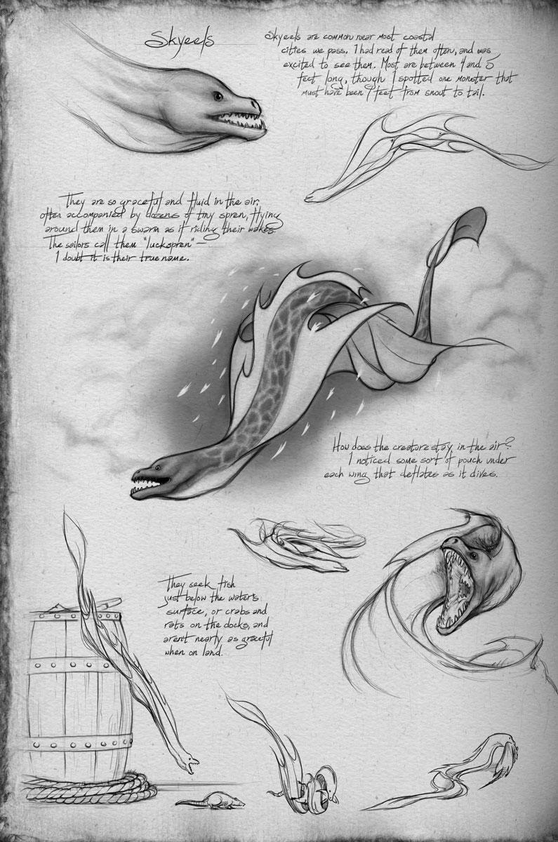 A Field Guide to Roshar Fauna Skyeels The Way of Kings Brandon Sanderson