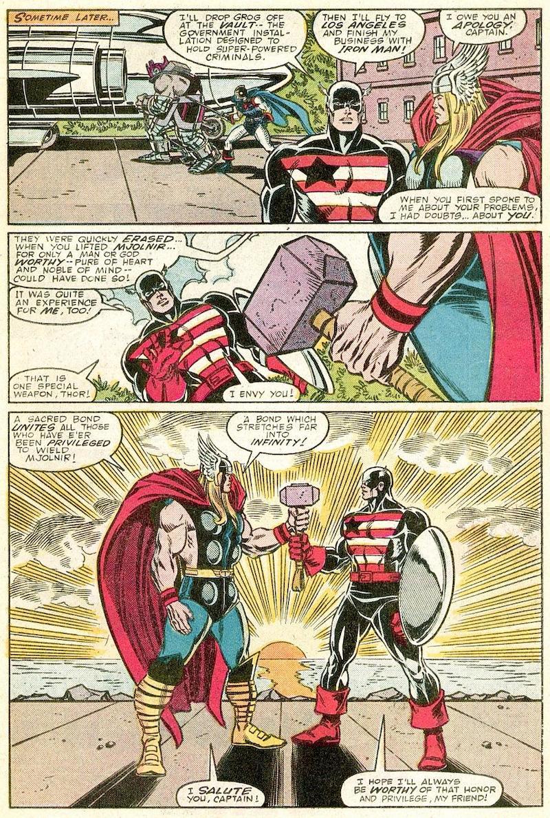 Thor, mjolnir, Captain America