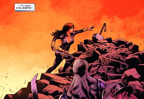 Black Widow, mjolnir
