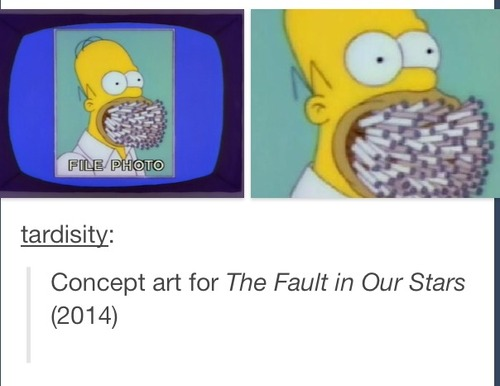 Simpsons The Fault in Our Stars smoking