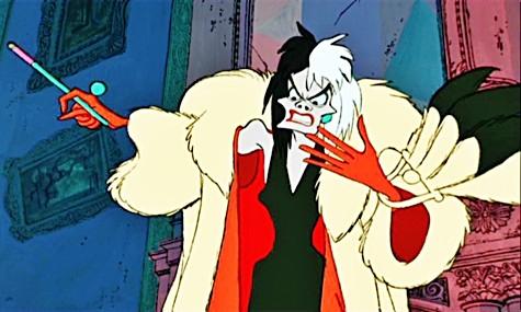 Villain Fashion, 101 Dalmatians, Cruella de Vil