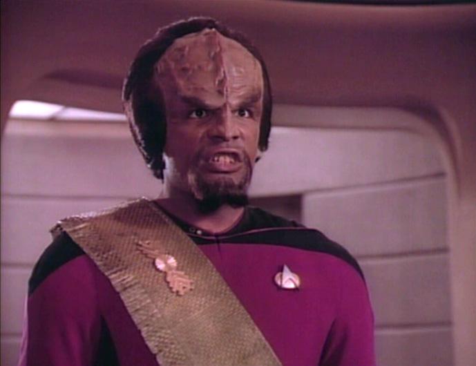 Worf is peeved.