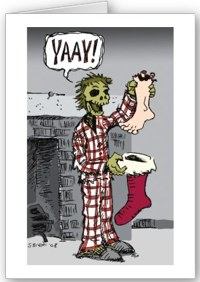 Zombie Christmas card