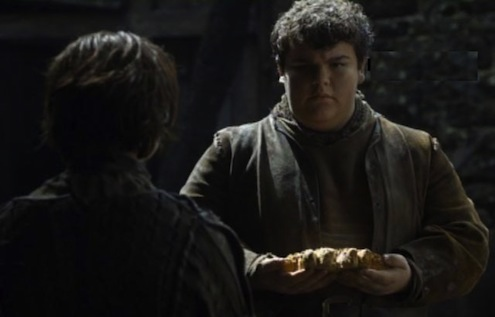 Guys, he baked Arya a wolf-loaf. Never forget.