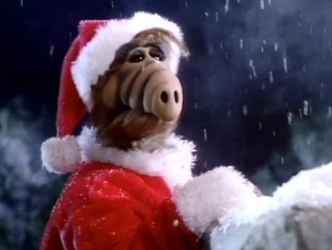 ALF as Santa