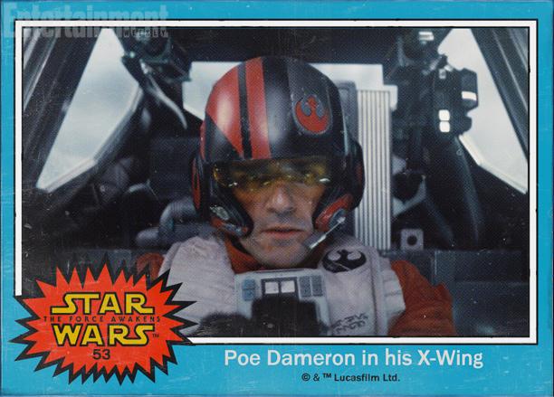 Star Wars: The Force Awakens character names Poe Dameron Oscar Isaac X-wing