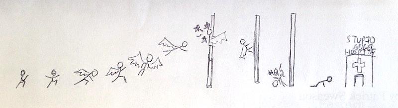Stupid angel hospital doodle