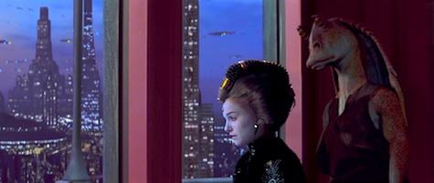 Star Wars, The Phantom Menace, Jar Jar and Amidala