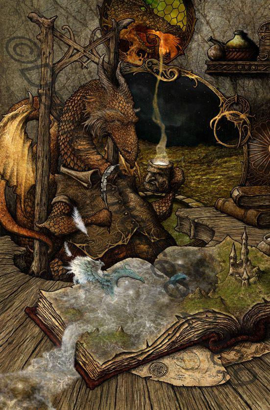 Deviant Art Girl Painting Dragon