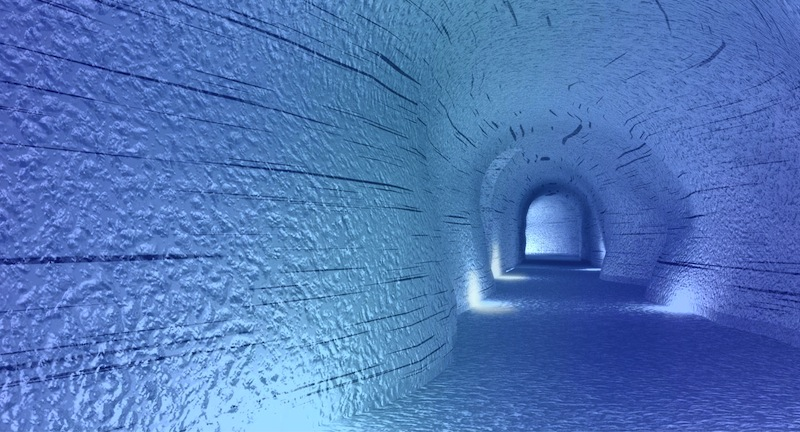 ice tunnels