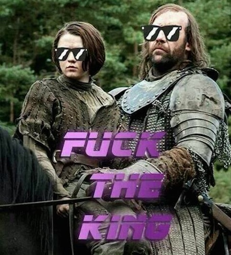 The Hound and Arya Just Don't Care