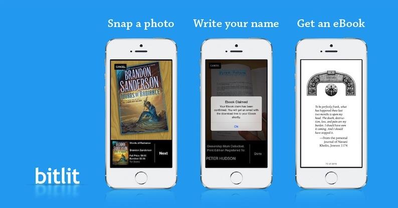 Tor Books BitLit app partnership shelfie