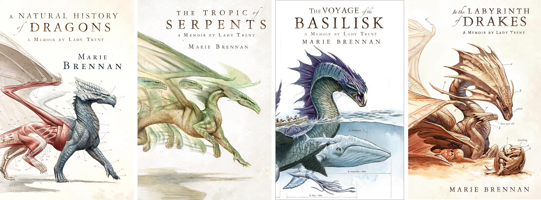 Marie Brennan dragon books cover