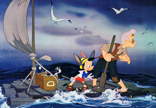Image result for pinocchio disney raft