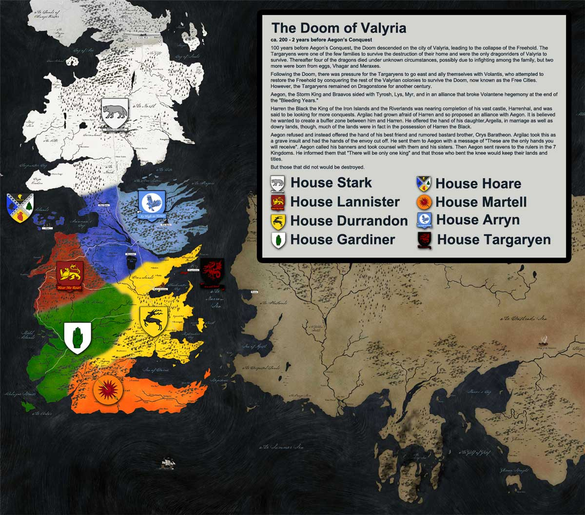 Song of Ice and Fire Doom of Valyria map