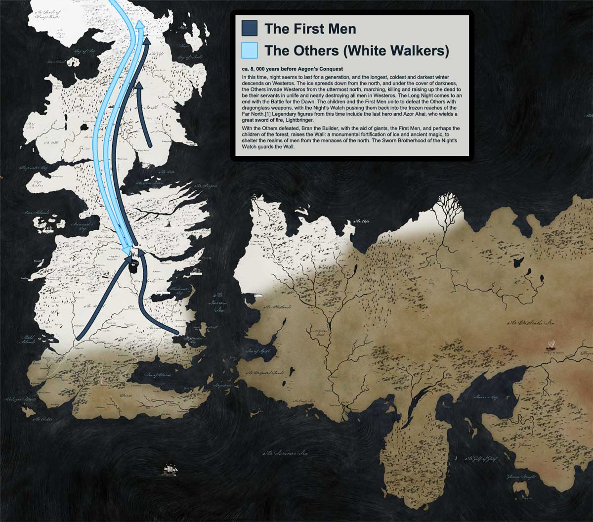 The Entire History of Westeros Explained in 9 Maps
