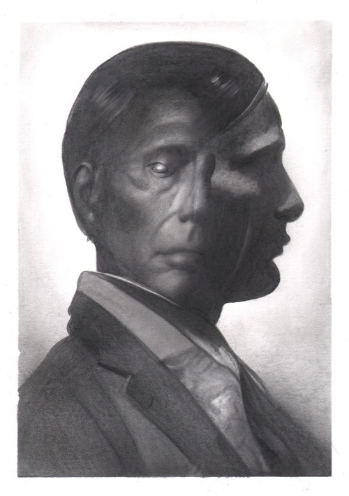 Graphite portrait of Bryan Fullers's Hannibal