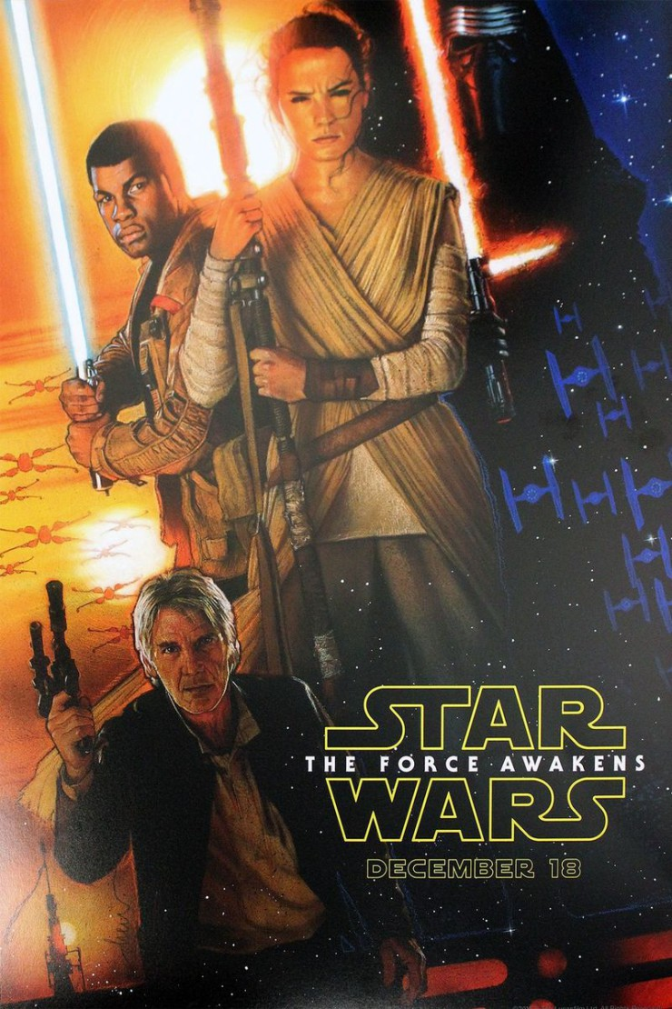 Drew Struzan poster Star Wars: The Force Awakens D23 Expo