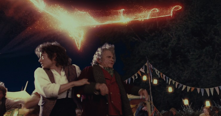 Fellowship of the Ring, Bilbo, Frodo, dragon firework