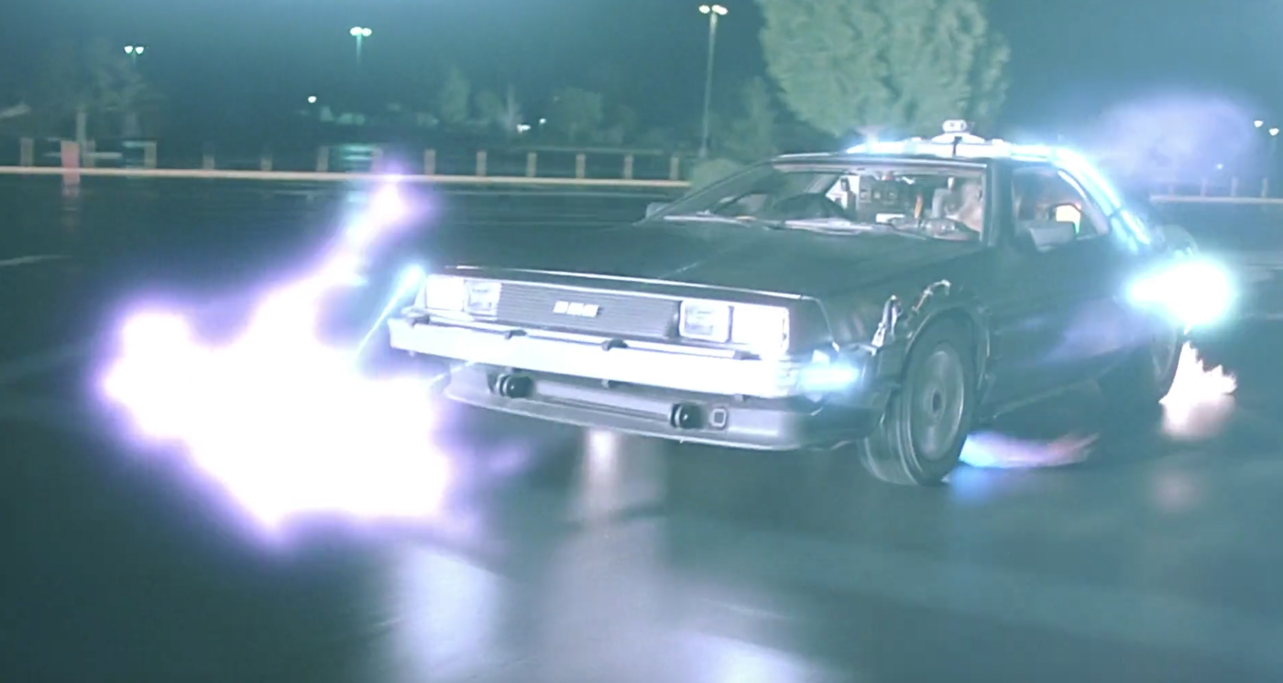 Delorean Time Travel Scene