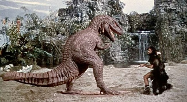 one-million-years-bc-ray-harryhausen-allosaur-attack