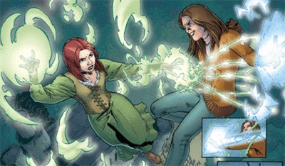 Willow Amy fight Buffy comics witches