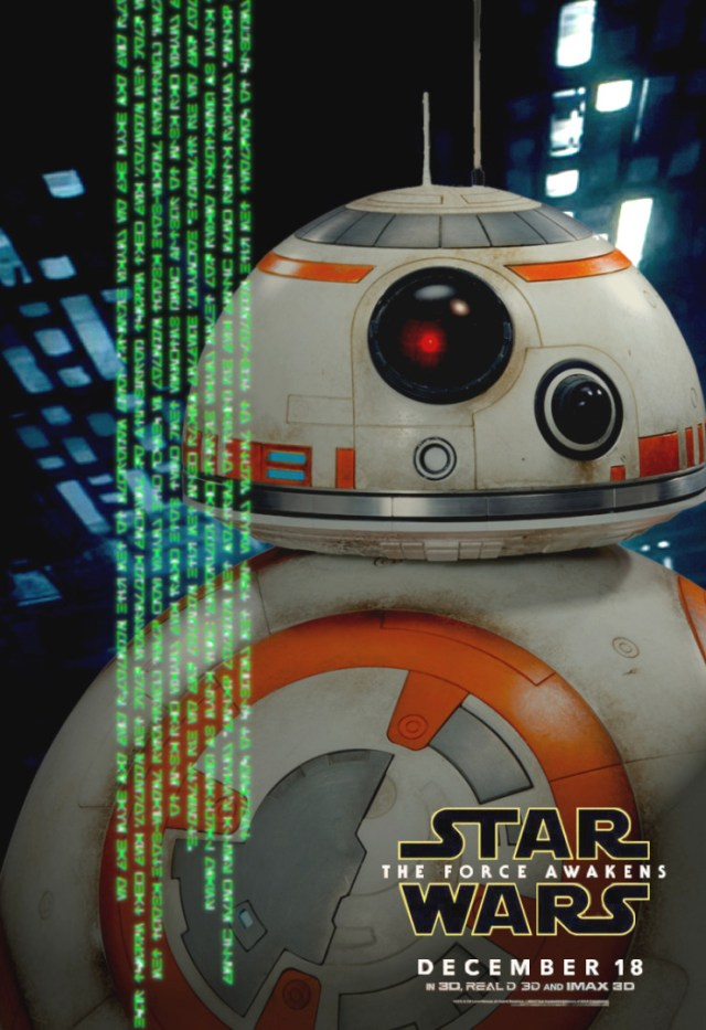 BB-8 Star Wars Force Awakens character poster