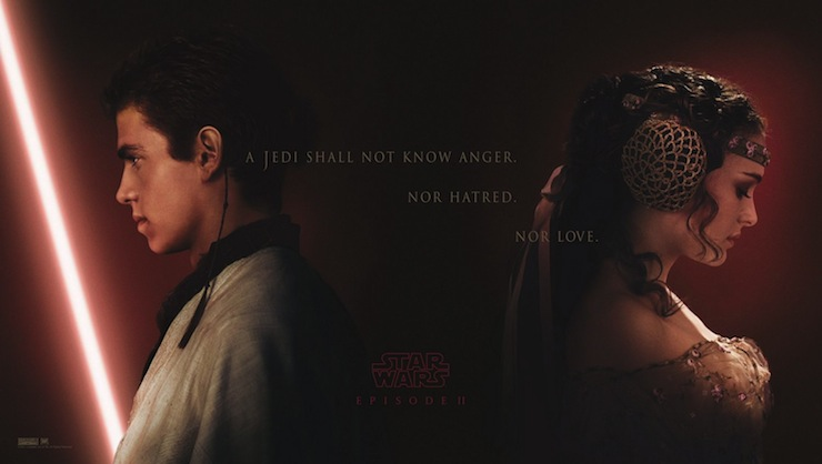 Do you remember this poster? Is anyone besides me curious as to why Anakin's side features a lightsaber erection?